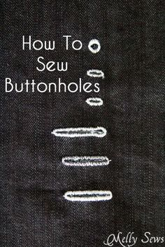 She covers how to sew buttonholes using a vintage buttonhole attachment.  Also using a modern buttonhole foot.  :-)  Good tips here.