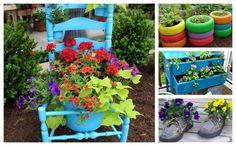 Decoratiuni de gradina din obiecte reciclate