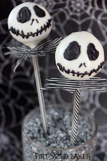 Jack Skellington Cake Pops ❤ pin @ Lil' Shop of Pops // #treats #Halloween