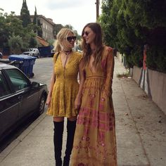 """""""Our lovely founders @gillianrosekern & @mslauramabel wearing their Fall colors in some of their favorite pieces from our Gypsy Dreamer collection. Wishing…"""""""