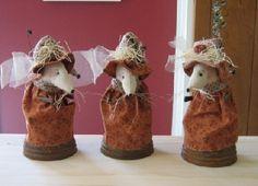 Country Garden Mouse #HAFshop #HAF #handmade $14.00