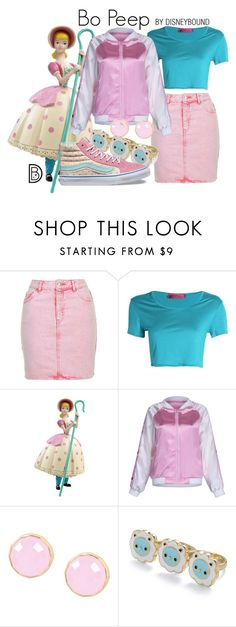 """Bo Peep"" by leslieakay ❤ liked on Polyvore featuring Topshop, Boohoo, WithChic, First People First, Vans, disney, disneybound and disneycharacter"