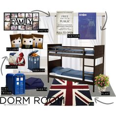 This is hilarious! A Doctor Who dorm room, for the super geeky college student.