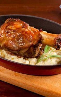 Χοιρινό κότσι στο φούρνο μαριναρισμένο με μπίρα Yams, Beef, Food, Meat, Essen, Meals, Yemek, Eten, Steak