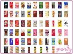 Every Kind of Pocky. I've tried choco, strawberry, milk, banana, strawberry with sprinkles, chico with almond, pretz : tomato,corn, pizza, hot chilli, and toppo (the cream inside): choco. Found most of them in Lottemart/ Farmer's Market