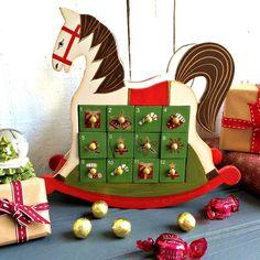 Wooden Rocking Horse Advent Calendar