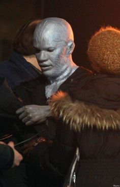 amazing spiderman 2 on set photos | ... Foxx in Full Electro Makeup on The Set of 'The Amazing Spider-Man 2