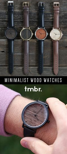 Tmbr. Helm Minimalist Real Wood Watches