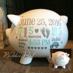 personalized piggy bank baby boy piggy bank elephant theme baby
