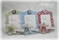 The Scalloped Edge: October 2010 Christmas Paper Crafts, Holiday Gift Tags, Stampin Up Christmas, Christmas Gift Tags, Xmas Cards, Handmade Christmas, Holiday Cards, Gift Cards, Holiday Ideas