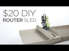 Full video of my $20 Router Sled build is below which can be found on my Youtube Channel, followed by materials list / tools list and a full set of written steps...