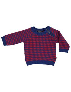 Must have for my baby boy! Rood-blauwe Ford baby sweater - Kidscase