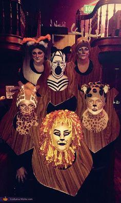 Hunter's Trophy Wall Group Halloween Costume Idea