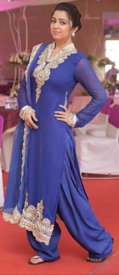 Charmi Kaur in Blue Shalwar Kameez - Desi Sardarni Look  See More at :- http://charmikaur1.blogspot.com/2015/09/Charmi-Kaur-in-Blue-Shalwar-Kameez-Desi-Sardarni-Look.html