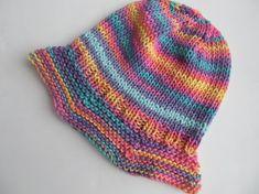 Babys or Childs Hat Rainbow Cotton Handknit. Good by SusanDeanne
