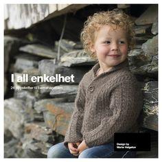 God gammeldags flettegenser fra I all enkelhet Baby Knitting, Crochet Hats, Children, Books, Sleeves, How To Make, Crafts, Clothes, Design