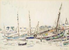 PAUL SIGNAC (1863-1935) Port-Louis 10 x 13 in (25.3 x 34.2 cm) (Painted circa 1920)