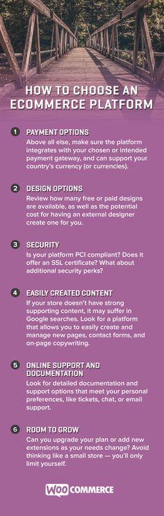 How To Choose An eCommerce Platform #ecommerce #WooCommerce #WordPress
