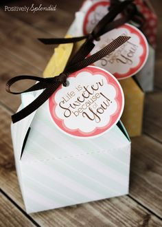 Life is Sweeter Printable Gift Tags #GiveBakery | Positively Splendid {Crafts, Sewing, Recipes and Home Decor}