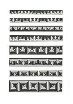 Band Tattoos For Men, Leg Tattoo Men, Tattoos For Guys, Greek Pattern, Pattern Art, Pattern Design, Chinese Patterns, Greek Art, Korean Art
