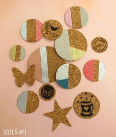 SCRAP & my favourite things: tutorial cork embellishments @mariabi74 #scrapandmft