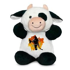 Firefighter Flames Sully the Cow