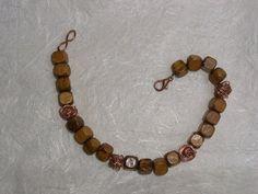 Bracciale in legno e perle di filo d'ottone color rame, by The Magic Daisy, 5,00 € su misshobby.com