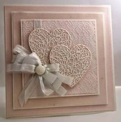 Creative Expressions  floral lace hearts