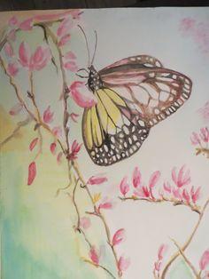 vlinder aquarel