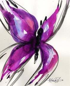 Butterfly Song 25... Original abstract by KathyMortonStanion, $25.00