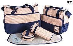 GARY&GHOST-0022A-Set 5 Kits Bolsa Maternal Cambiador a Ju...…
