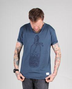 Hafendieb Buddelschiff T-Shirt denim