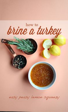 How to brine a turkey is easy peasy lemon squeezy with Wish-Bone's Italian Dressing//