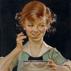 "J.C. Leyendecker, ""Kellogg's Kid"" (1915-17), The Haggin Museum in Stockton"
