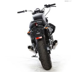 Moto Guzzi V7 custom with Tonti frame and Griso engine, built by Radical Guzzi.