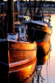 fishing boats at sunrise ~ Provincetown, MA