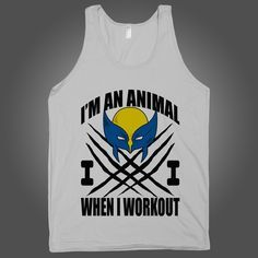 I Am An Animal When I Workout on a Silver Tank Top t shirt, shirt, tank, top, tank top, racerback, funny, nerdy, geek, nerd, comic, book, tv, retro, vintage, clothes, summer, spring, graphic, tee, swag, dress, hipster, pink, girls, boys, men, women, fitness, yoga, crossfit, lift, beast, sweat, gym, workout, weights, running, training, train, shoes, swole, muscles, diet, dieting, sale…