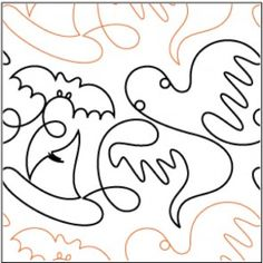 Trick or Treat pantograph pattern by Patricia Ritter of Urban ... : free pantographs for quilting - Adamdwight.com