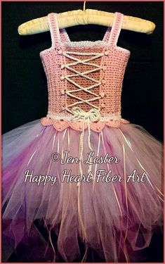 Ravelry: Fairytale Princess Costume Tutu Dress by Happy Heart Fiber Art
