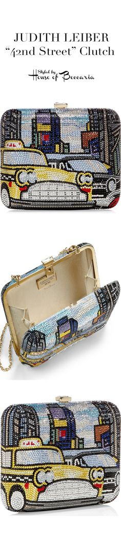 "~Judith Leiber ""42nd Street"" Crystal Encrusted Clutch 