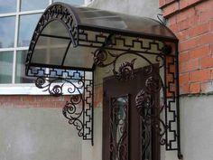 Pergola With Retractable Canopy Kit Home Gate Design, Steel Gate Design, Front Door Overhang, Wooden Front Door Design, Metal Wall Planters, Beautiful Front Doors, Modern Shed, Classic House Design, Wrought Iron Decor