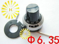 FREE SHIPPING 5PCS x 6.35mm Potentiometer Rotary Knob Cap For 7276 3590S RV24YN20S WXD3-13 #Affiliate