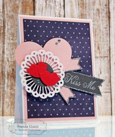January SOTM Kiss Me! card By Wanda Guess #Cardmaking, #StampoftheMonth, #ValentinesLove, http://tayloredexpressions.com/kits.html
