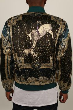 The Bull Silk Souvenir Jacket in Green