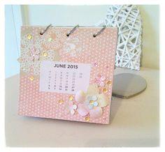 Sparklygirl-Tina 2015 desk calendar using Craftwork Cards papers
