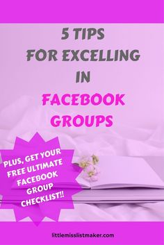 5 Tips for Facebook Groups.  Includes Free Ultimate Facebook Group list and printable post tracker! Using Facebook For Business, How To Use Facebook, Free Facebook, Social Media List, Social Media Analytics, Social Media Marketing, Digital Marketing, Facebook Marketing, Affiliate Marketing