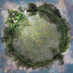 "Catherine Nelson creates some of the most amazing ""planets"" we've seen by stitching together hundreds of individual photographs. Amazing Photography, Art Photography, Floating Globe, Panoramic Photography, Little Planet, Creative Landscape, Landscape Photos, Affinity Photo, Harry Potter"