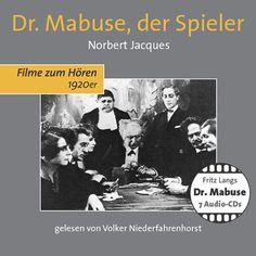 Hörprobe DR. MABUSE, DER SPIELER - die erste Minute via SoundCloud. Die Lesung des Schauspielers und Sprechers Volker Niederfahrenhorst folgt dem ungekürzten Text der 1921 im Ullstein-Verlag erschienenen Erstausgabe.