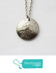 Japanese Coin Necklace 100 Yen 1967 Domed Pendant from Hendywood http://www.amazon.com/dp/B017QMOW6C/ref=hnd_sw_r_pi_dp_UBaqwb0E09RYB #handmadeatamazon