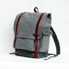 The Wayfarer Backpack in Gray Wool